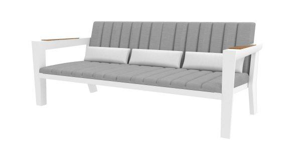 Champion ספה תלת לבן מוקטן צרוב