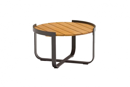 Bloom שולחן קפה עגול עץ פחם4