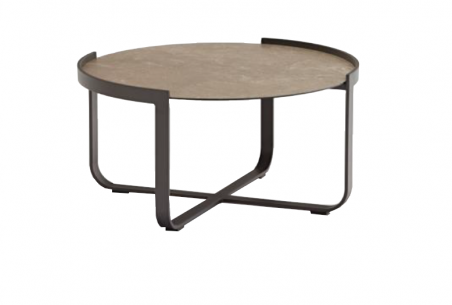 Bloom שולחן קפה עגול קרמיקה פחם