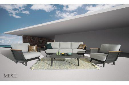 Mesh Sofa Set Charcoal Grey מוקטן (003)